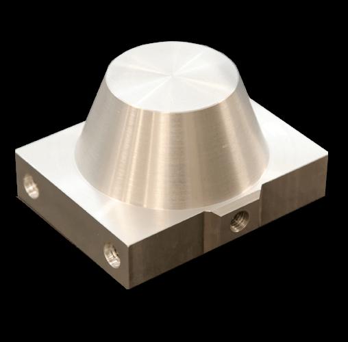 Súčiastka vyrobená z kovu pomocou sústruženia